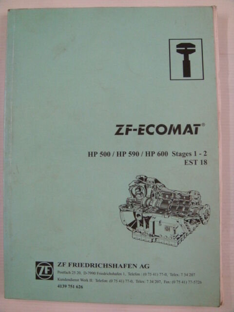 s l1000 zf ecomat auto transmission hp 500 590 600 service manual ebay zf ecomat wiring diagram at gsmx.co