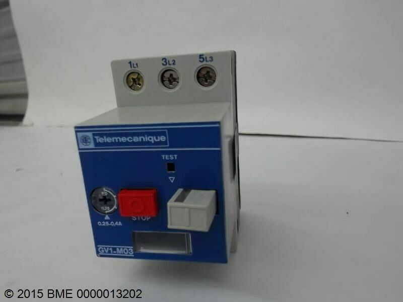 Telemecanique motor starter contactor gv1 m03 new ebay Telemecanique motor starter