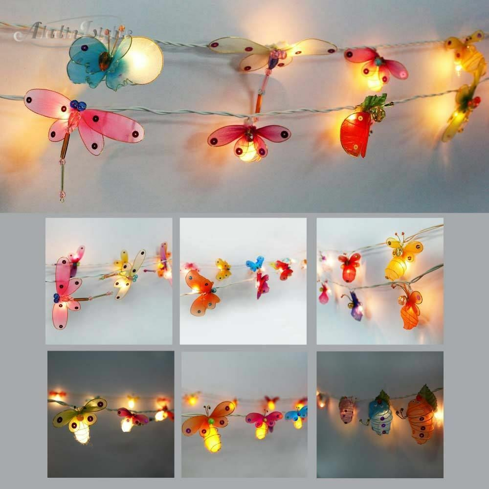 String Lights For Children S Room : GaiaShine Fabric Animal Lanterns String Fairy Lights, Kid s Room Night Light UK eBay
