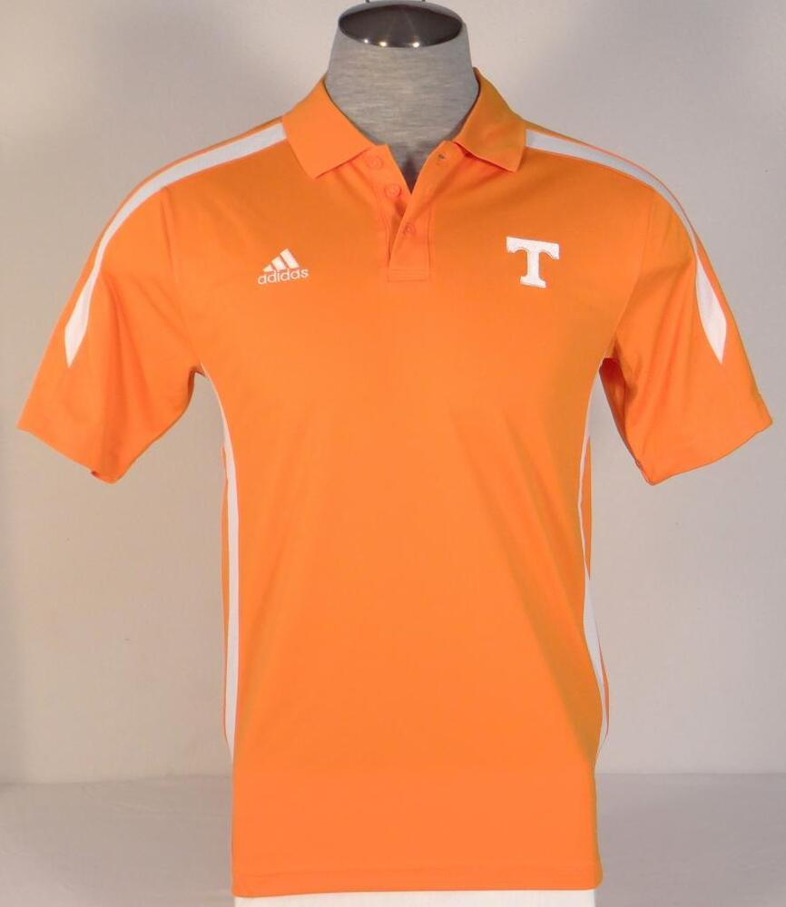 Adidas climalite collegiate orange tennessee short sleeve for Mens orange polo shirt