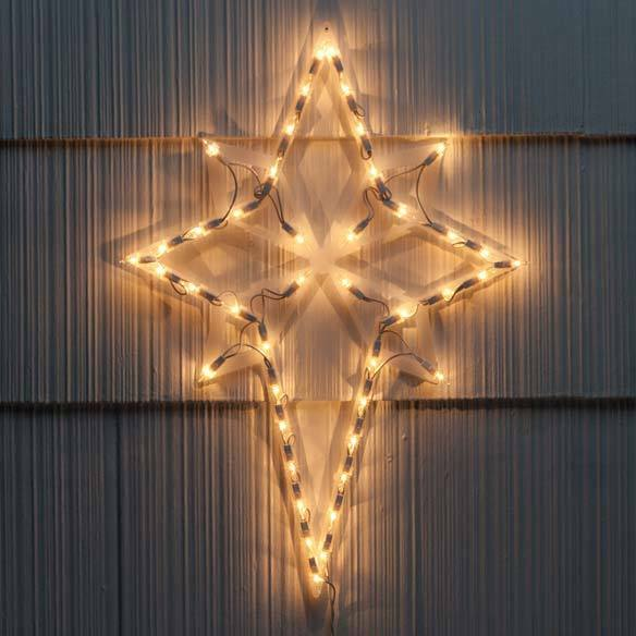 Lighted nativity star of bethlehem christmas decoration for 18 lighted christmas tree with stars window silhouette decoration