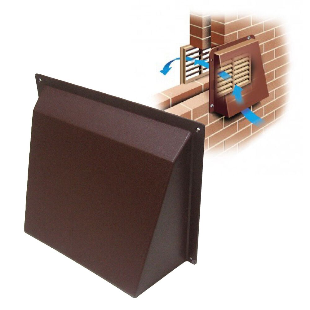 9 x 9 brown hooded cowl vent cover for air bricks for I s bains cowling