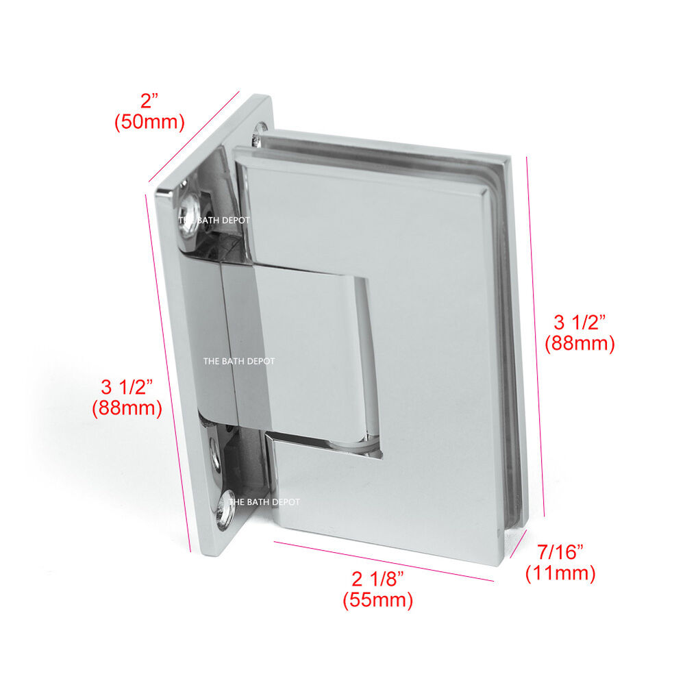 Glass Shower Door Hinges : Pair frameless pivot shower door hinge degree wall to