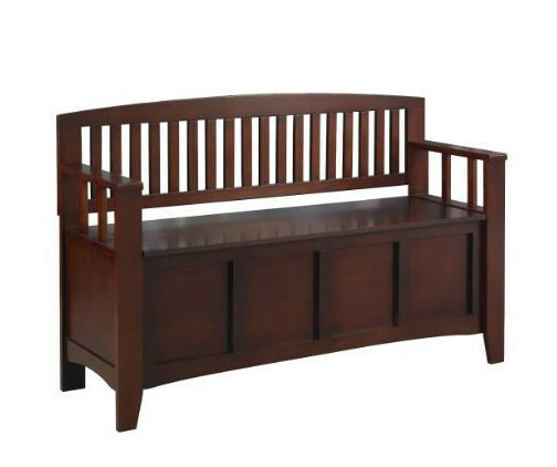 Foyer Bench Zoo : Entryway storage bench wood hallway seat foyer furniture