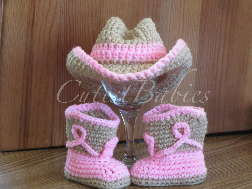 Newborn Baby Crochet Cowboy/ Cowgirl Hat & Boots Photo ...