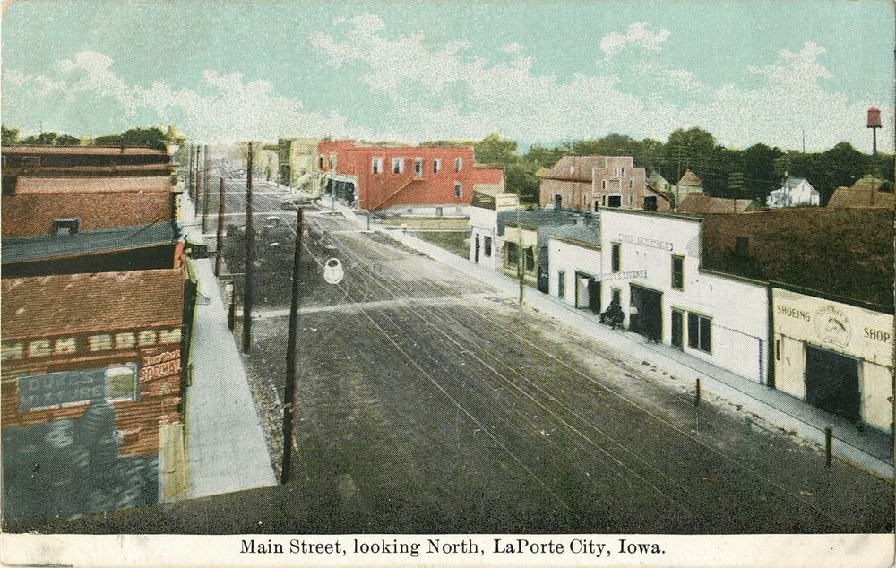 A view of main street looking north laporte city ia ebay for Laporte city