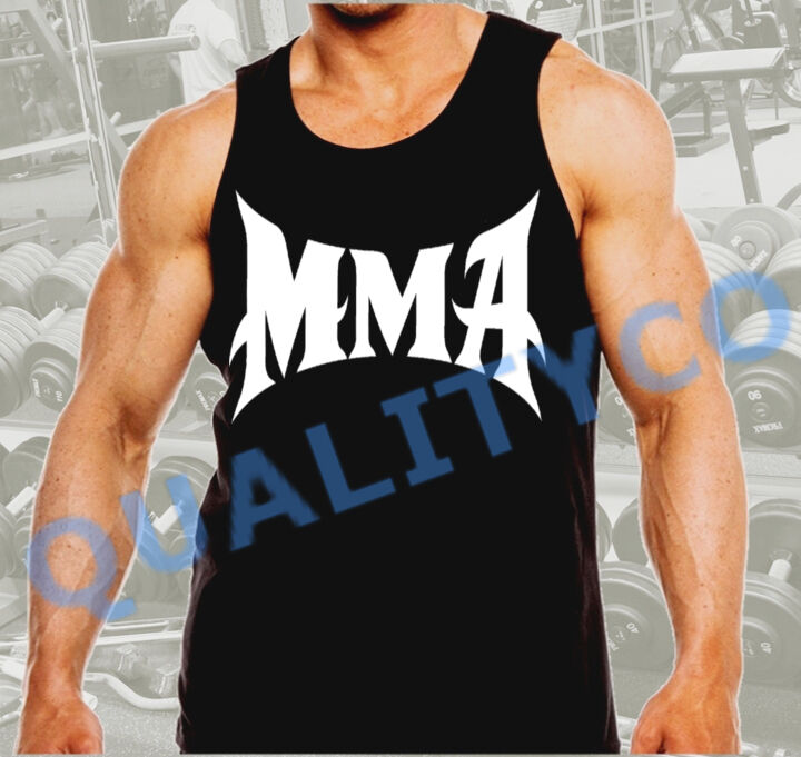 Gym Muscle Bodybuilding Black Mesh Fitness Power Lifting: Men's MMA Weight Lifting Workout Bodybuilding Gym Black