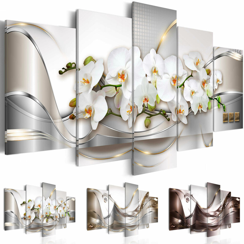 leinwand bilder xxl blumen orchidee abstraktes wandbild. Black Bedroom Furniture Sets. Home Design Ideas
