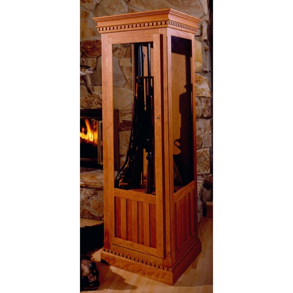 Cherry Gun Cabinet Plan - Media Woodworking Plans Indoor Project Plans ...