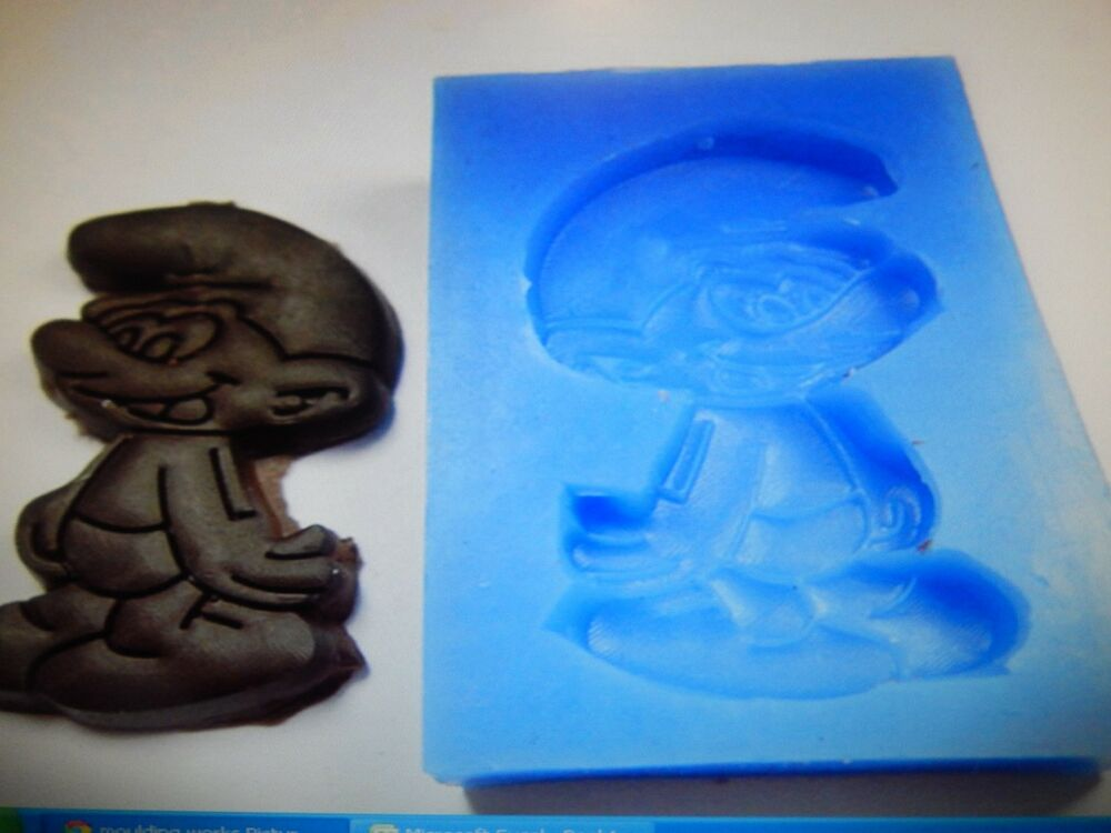 Cartoon figure silicone smurf mould cake decoration icing for Decoration wax