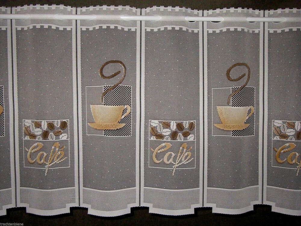 scheibengardine k che cafe gardine bistro kaffee tasse 15 cm 1 teil gardine ebay. Black Bedroom Furniture Sets. Home Design Ideas