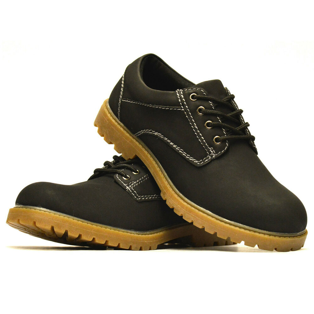 mens casual smart walking hiking lace up trail work