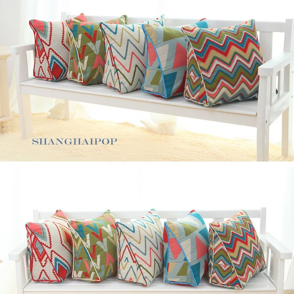 1 X Wedge Triangle Cushion Pillow Bed Sofa Chair Seat Back