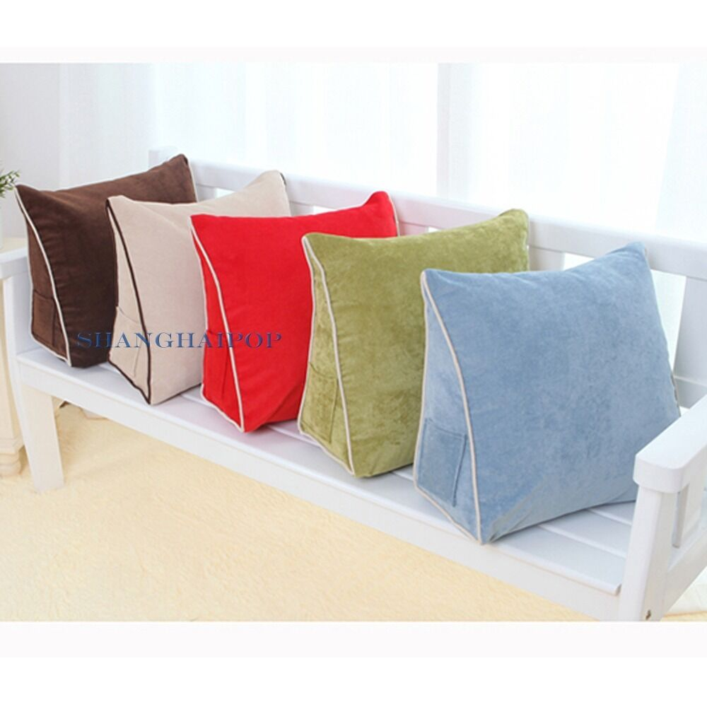 1 x sofa cushion pillow wedge pad bed chair seat back rest for Chair pillow