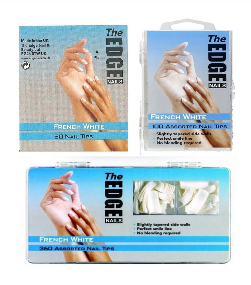THE EDGE FRENCH WHITE NAIL TIPS (REFILLS OF 50, 100 OR 360) | eBay