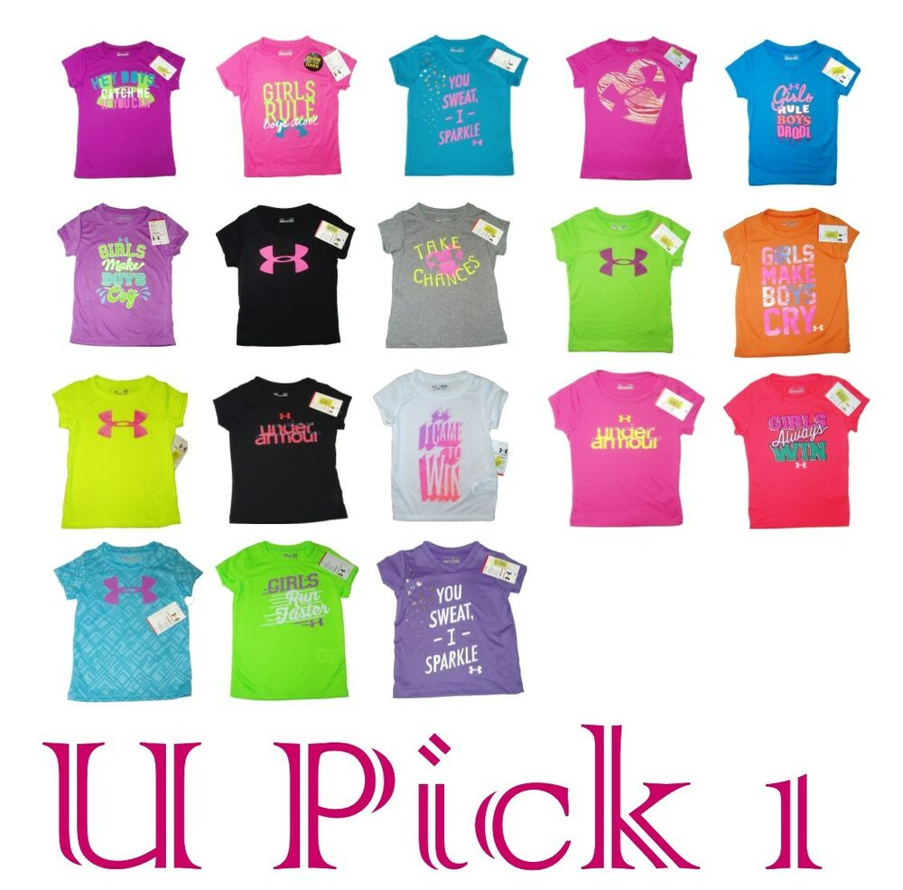 UNDER ARMOUR T-SHIRT CUTE SAYINGS GIRLS CHILDREN KIDS ...