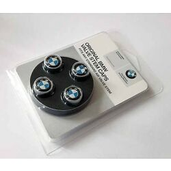 Kyпить BMW Genuine Roundel Logo Tire Valve Steam Cap Set, Caps NEW Original Set of 4 на еВаy.соm