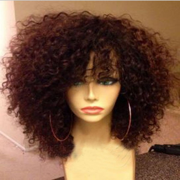 Spanish Curly 100 Remay Human Hair Full Front Lace Wig