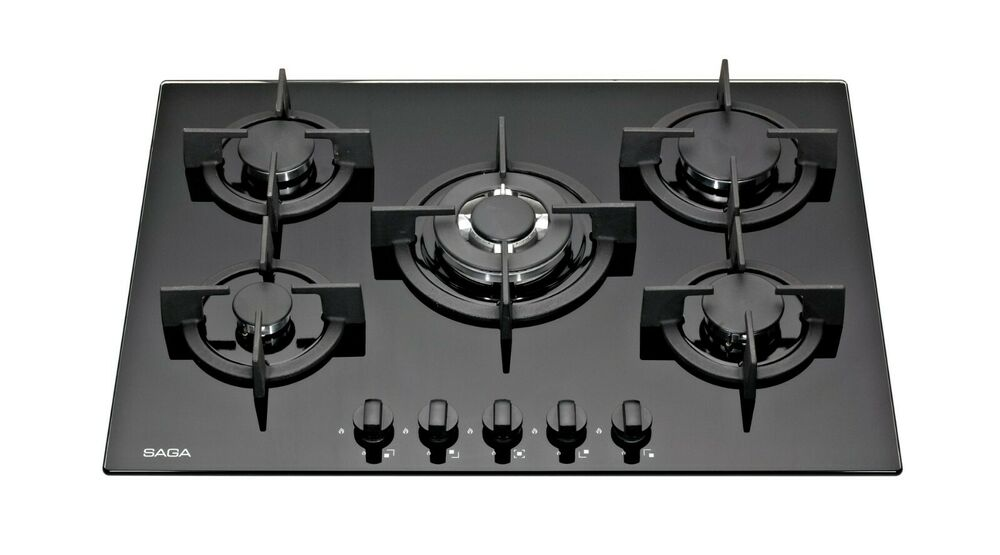Burner Gas On Glass Hob