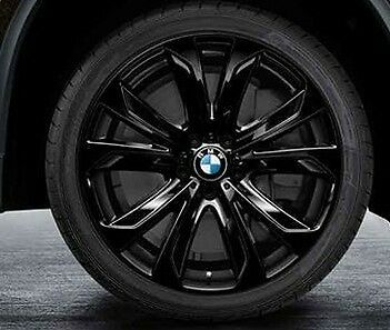 Bmw F15 X5 Genuine Star Spoke 491 Black Wheel Set Wheels