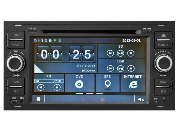 autoradio dvd gps ipod navi radio player ford focus c max fiesta e8488 b ebay. Black Bedroom Furniture Sets. Home Design Ideas
