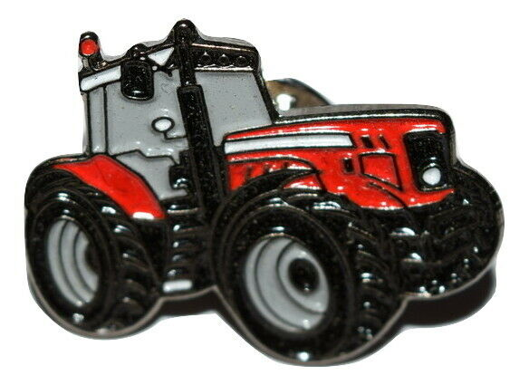 Metal Tractor Pin : Red massey ferguson tractor pin badge farming gift