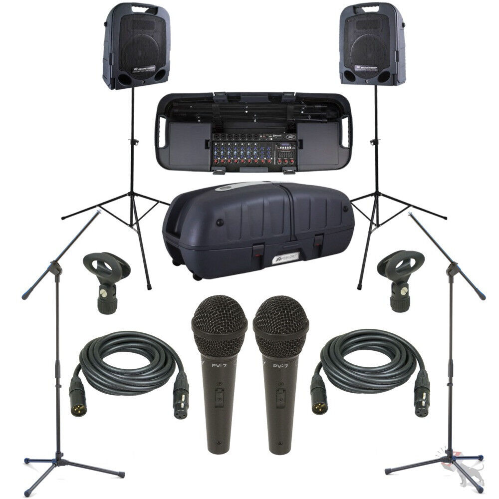 Details about Peavey Escort 6000 Mixer 9-Ch Portable 600W Speaker System  Mics Stands Cables