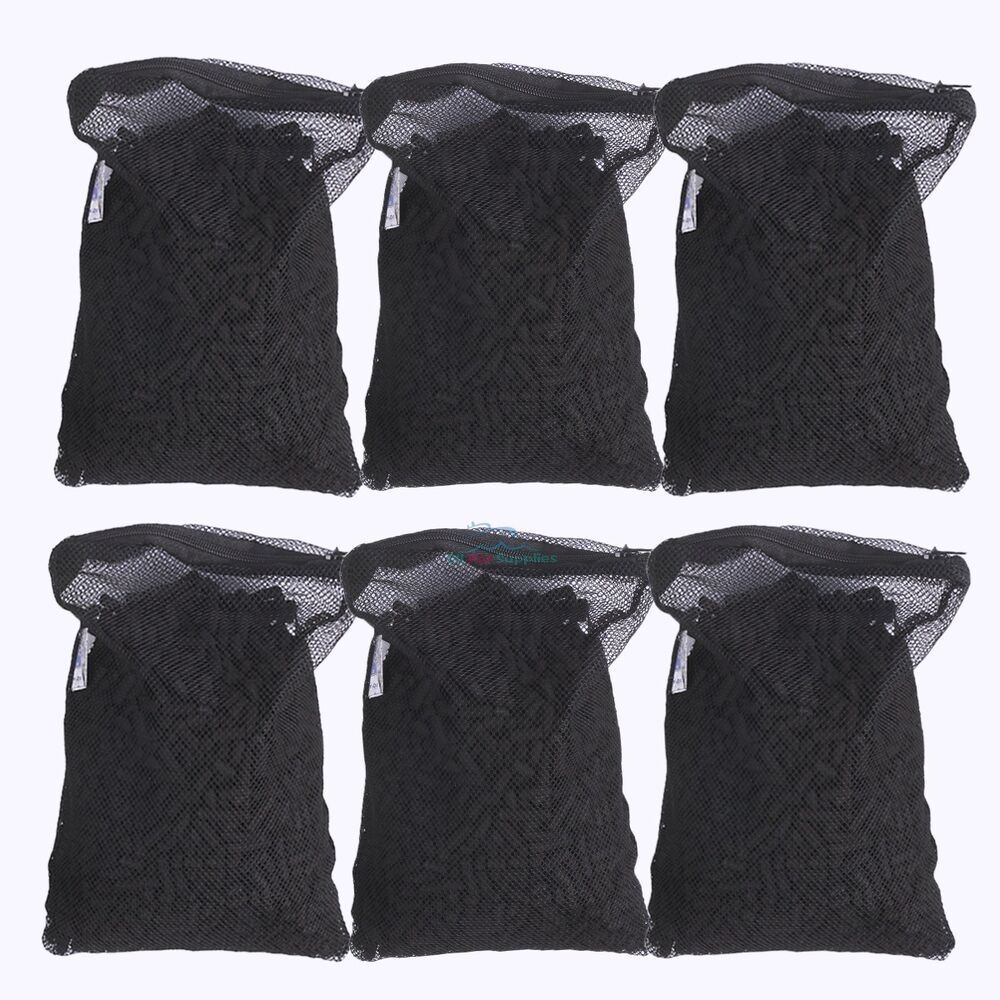 6 lbs activated carbon in 6 media bags for aquarium fish - Activated charcoal swimming pool filter ...