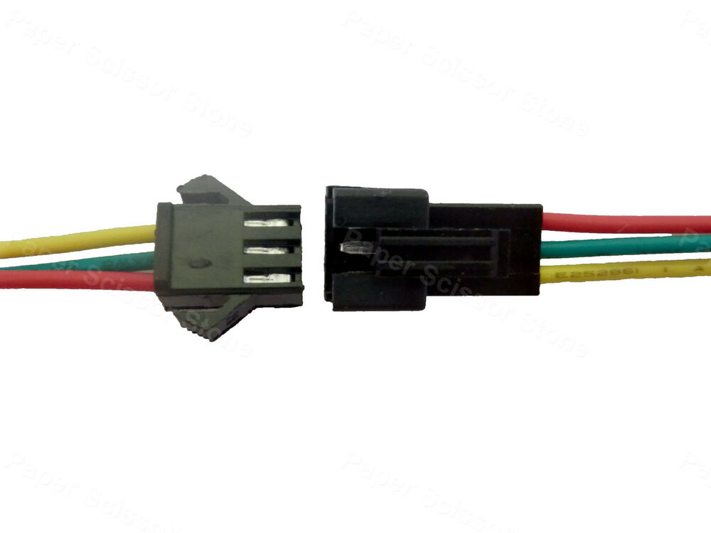 Low Voltage Connectors Cable To Cable : Pairs power jack plug socket pin wire connector for led