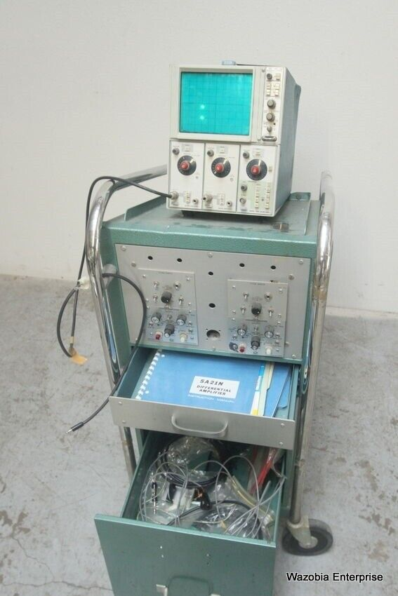 Amp On An Oscilloscope : Tektronix n oscilloscope a amplifier b time