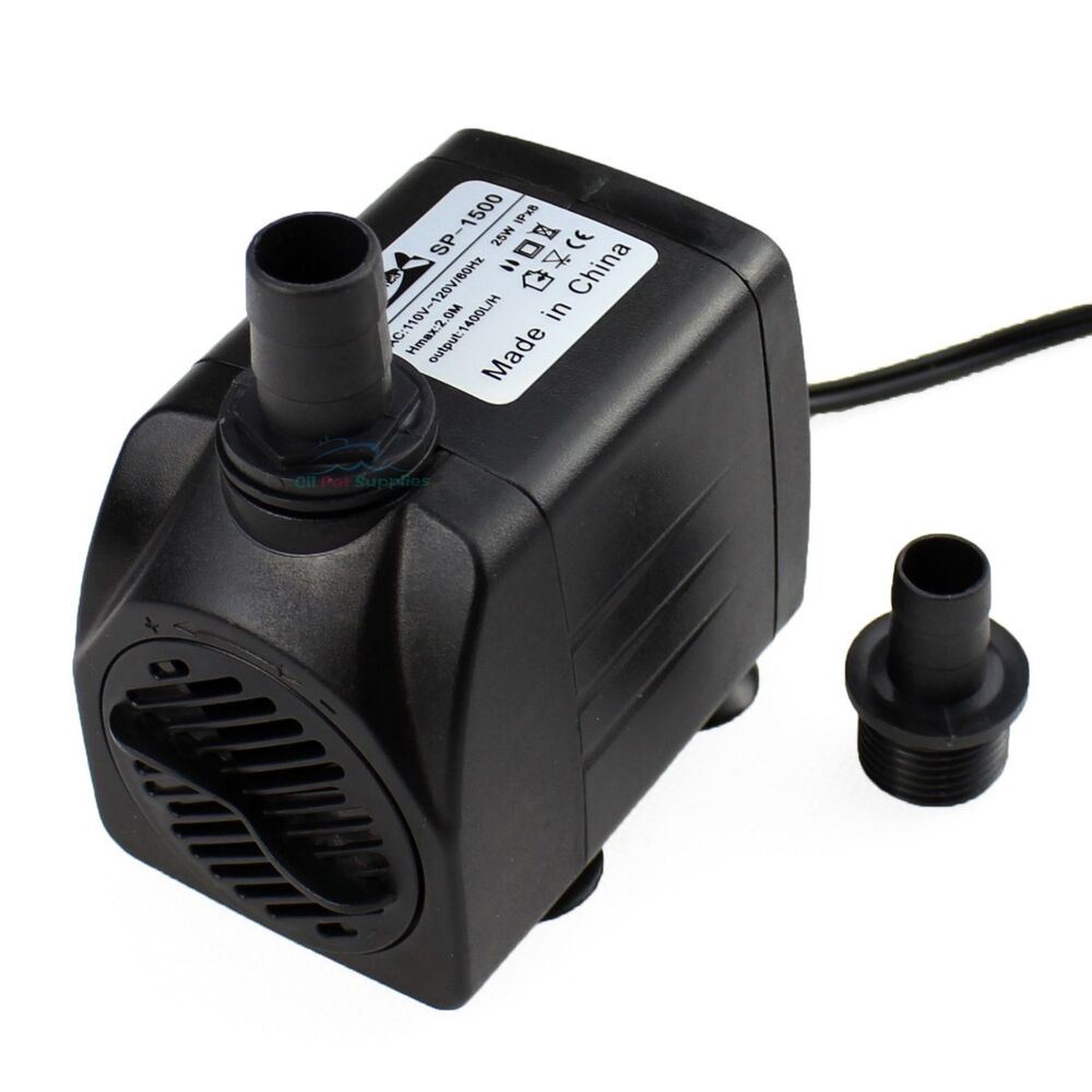 370 gph submersible water pump aquarium fish tank for Fish water pump