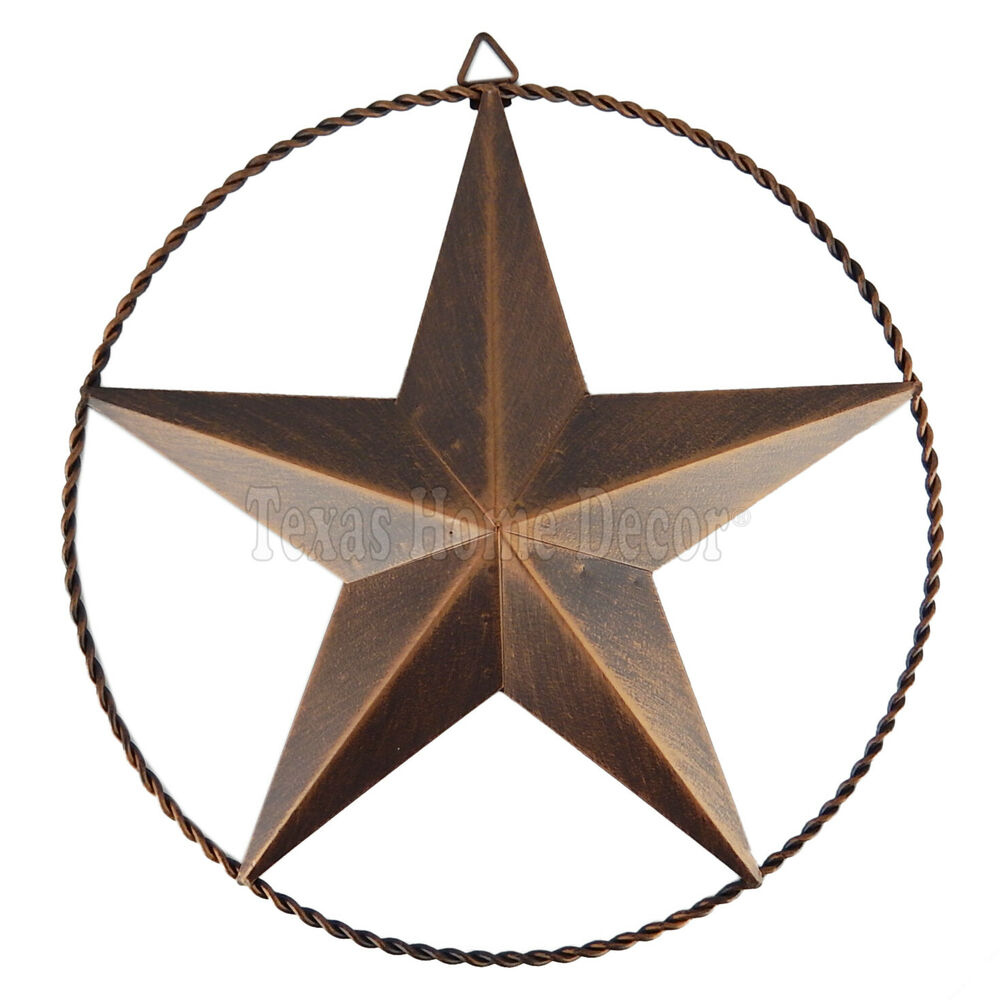 Metal Barn Star Wire Ring Anti Rust Brushed Copper Rustic