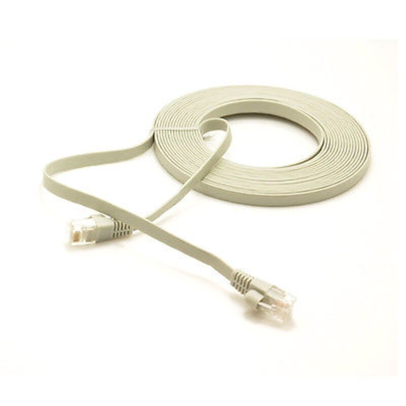 Custom Flat Ethernet Cables : M cat rj ultra thin flat ethernet network cable