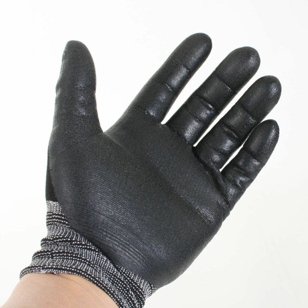 New Nitrile Foam Coating Advanced 3m Gloves Work Comfort Grip Electrical Wiring Ebay