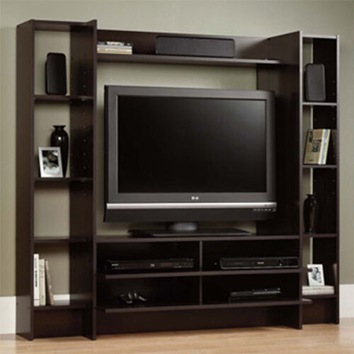 Tv Helping Push Kitchens Off The Shelf: Home Entertainment Center Wood Storage Cabinet TV Stand