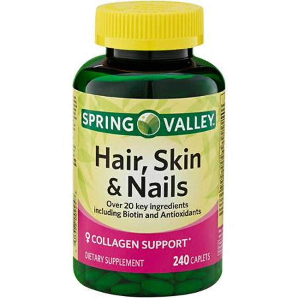 Spring Valley Hair Skin and Nails (240) Caplets Pills