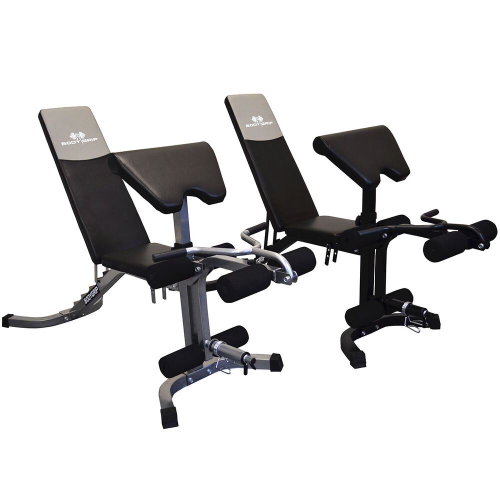 Adjustable Weight Bench With Leg Curl Extension Preacher Pad Attachments Ebay