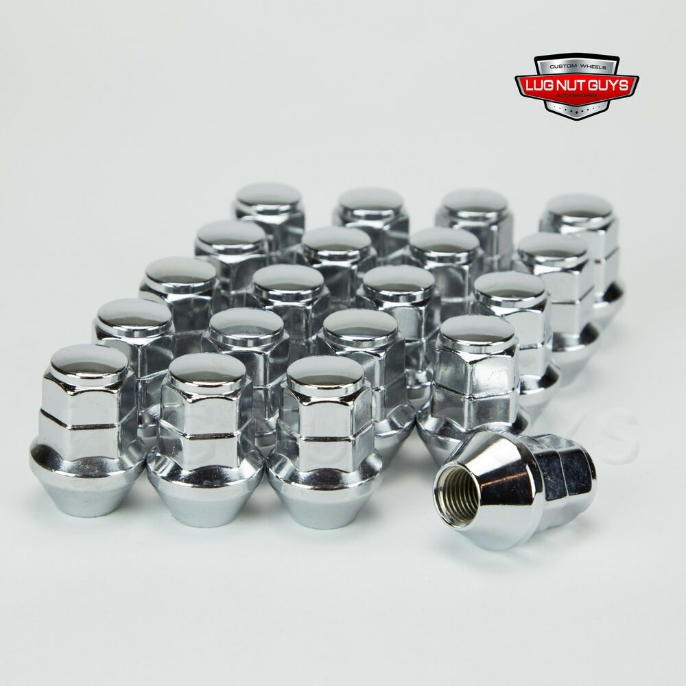 Chrome lug nuts charger challenger 300c magnum 14x1 5 dual hex 21mm