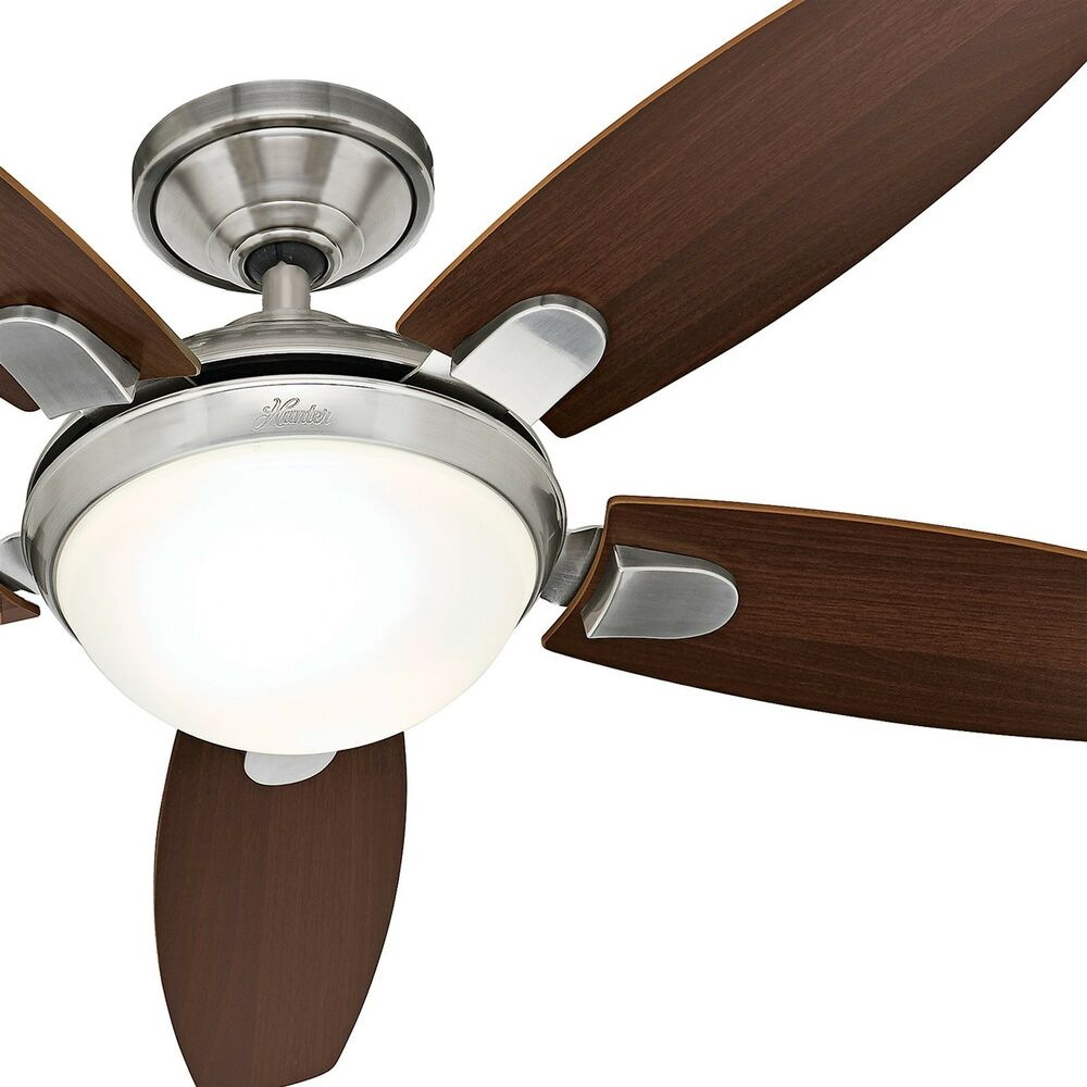 hunter ceiling fan remote 52 quot contemporary ceiling fan brushed nickel 29341