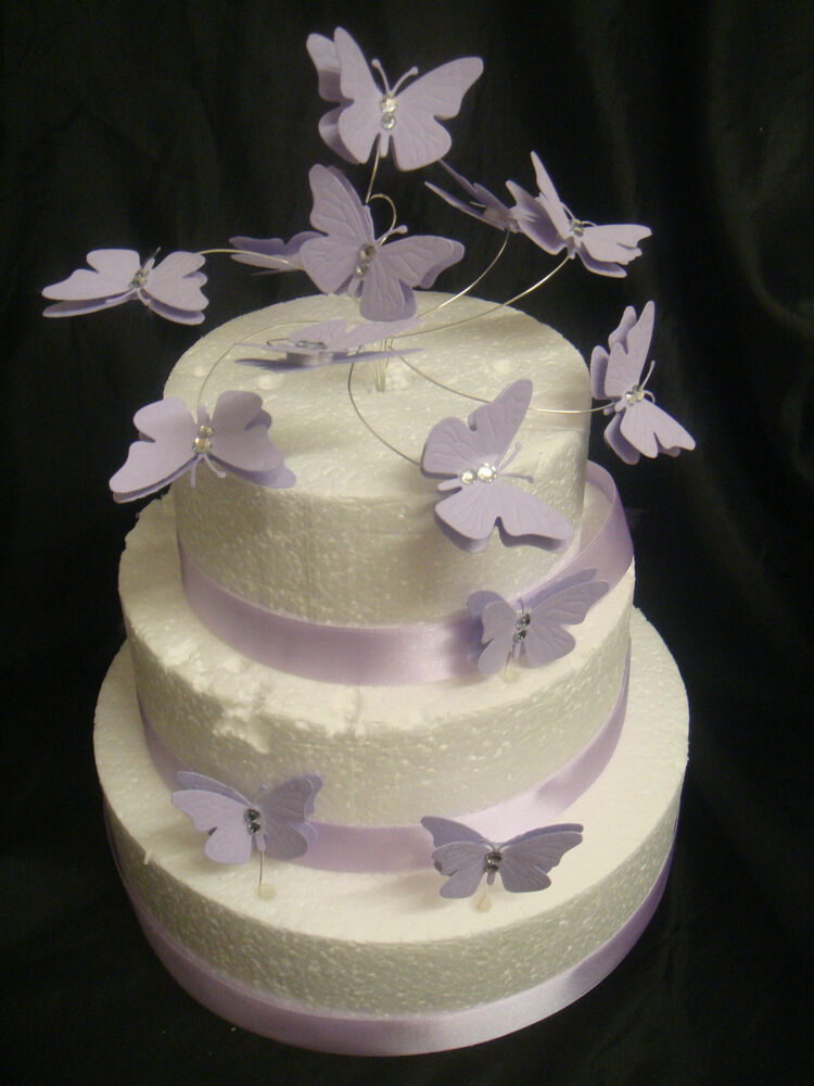 Edible Diamante Cake Decoration : diamante set butterfly swirl ribbon wedding birthday cake ...