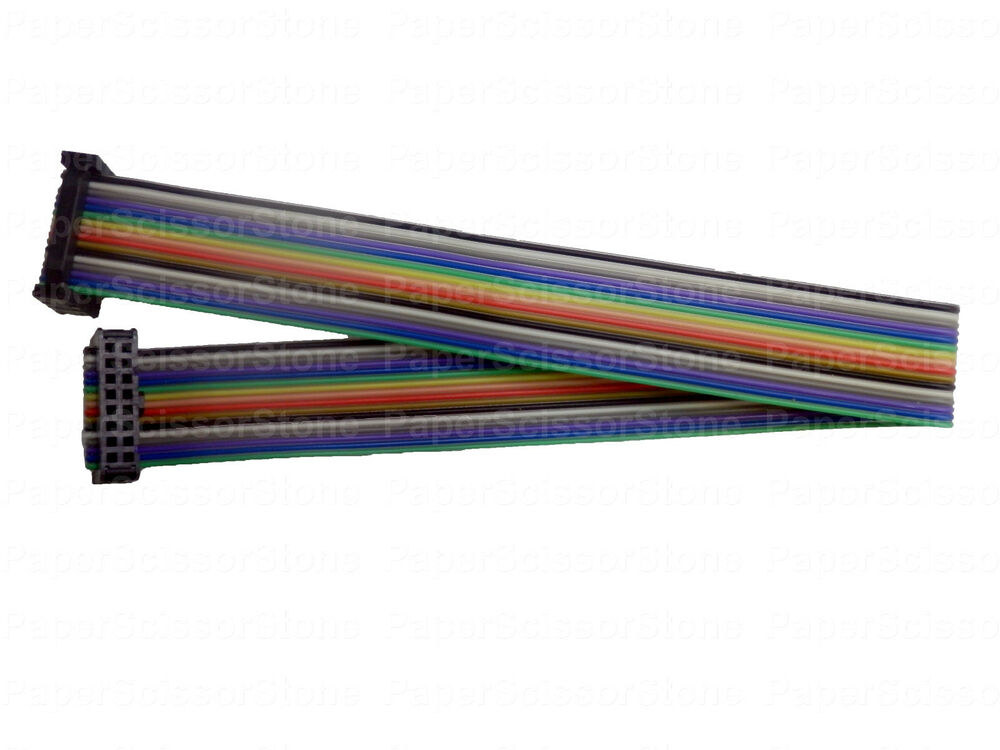 8 Pin Ribbon Cable Connector : Pcs mm pitch pin wire ft rainbow color idc flat