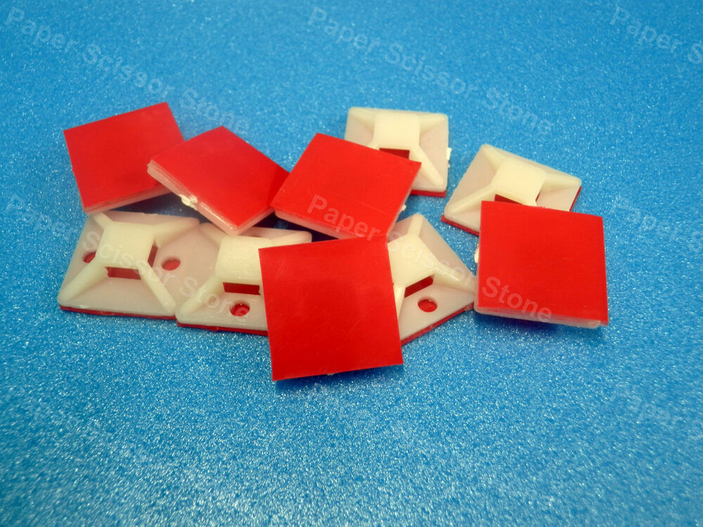 3m Cable Ties : Pcs cable wire tie square mount pad with m vhb red