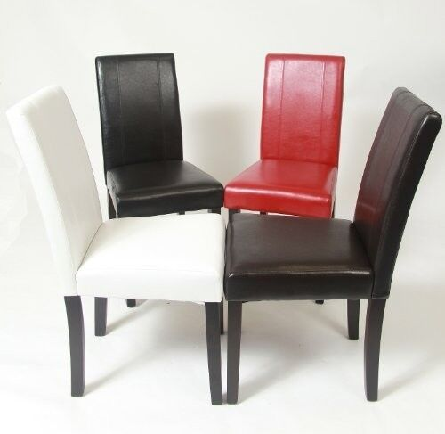 New elegant design leather dining chairs furniture in 4 colors ebay
