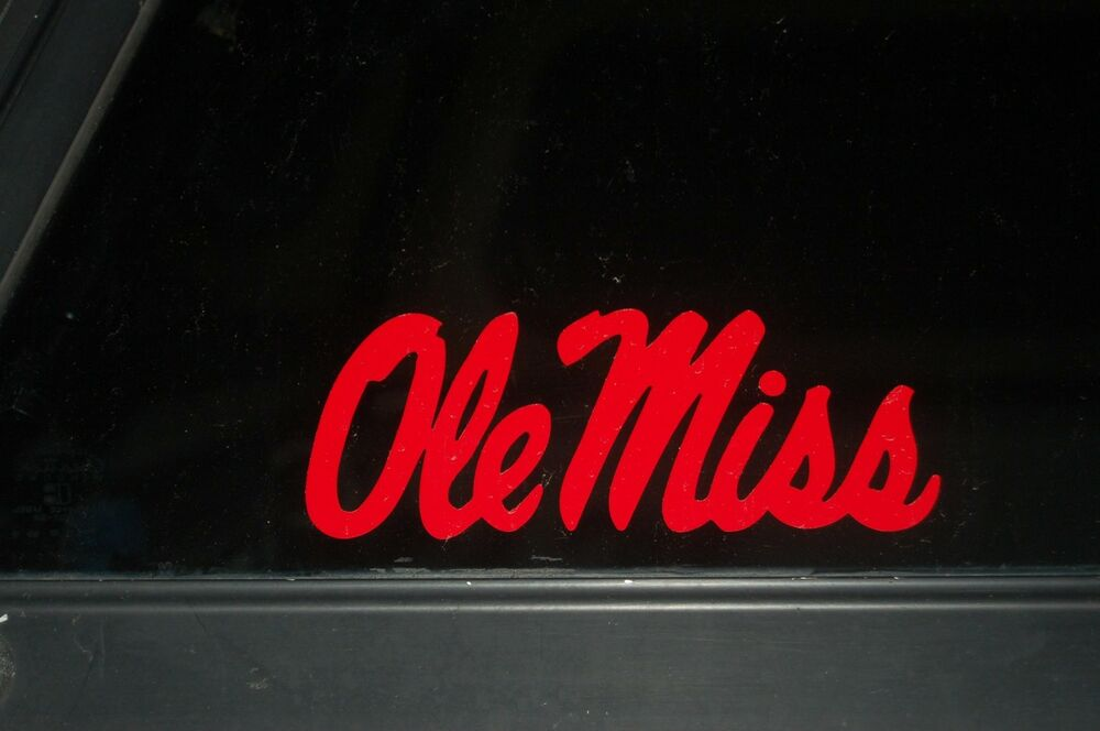 Ole Miss University Mississippi College Logo Vinyl Decal