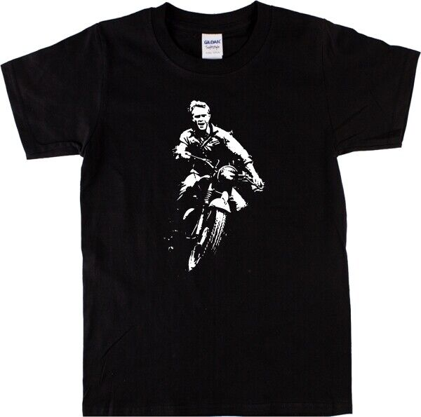 steve mcqueen the great escape t shirt classic brit film all colours sizes ebay. Black Bedroom Furniture Sets. Home Design Ideas
