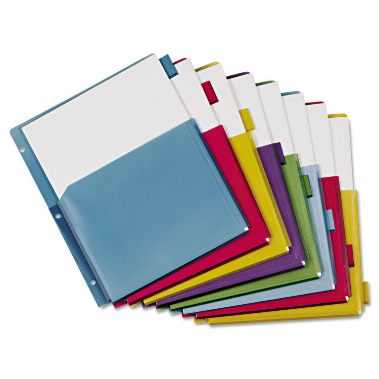 Poly Expanding Pocket Index Dividers, 8-Tab, Letter