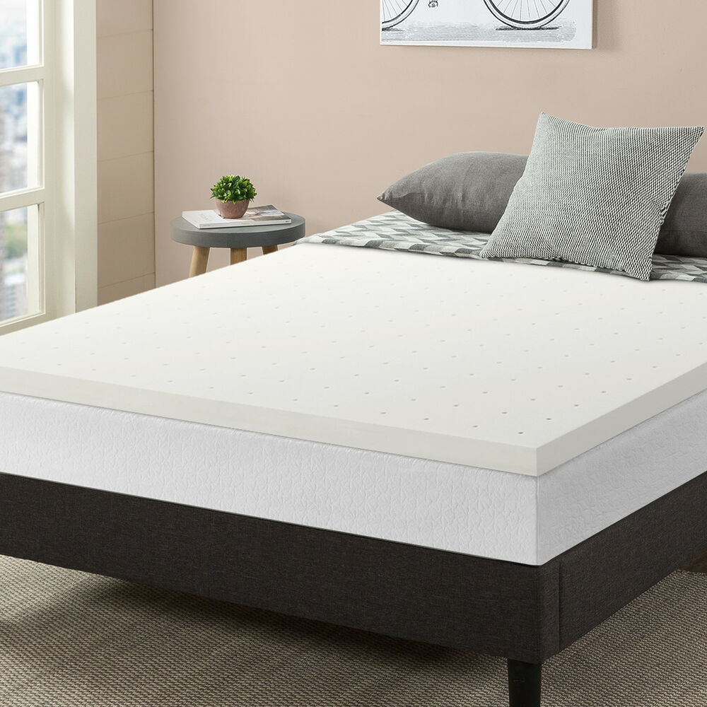 2 ventilated memory foam mattress topper ebay. Black Bedroom Furniture Sets. Home Design Ideas