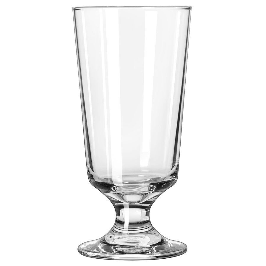 Set of 6 libbey 3737 embassy 10 oz footed hi ball glass w for Consul container