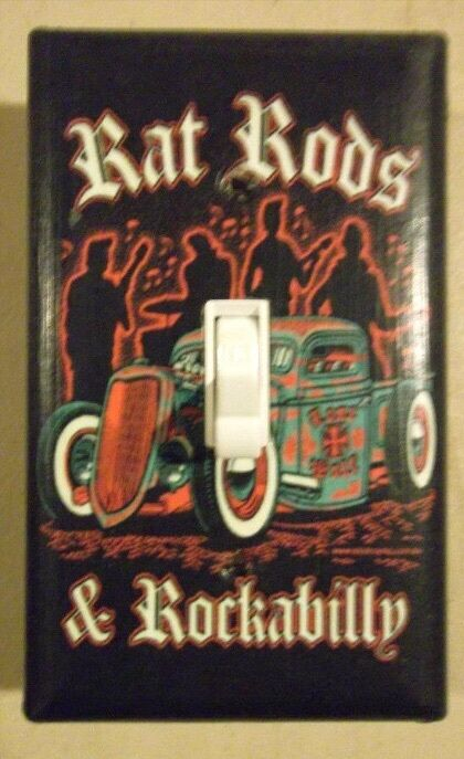 Rockabilly Rat Rod Hot Rod Pin Up Light Switch Plate Cover