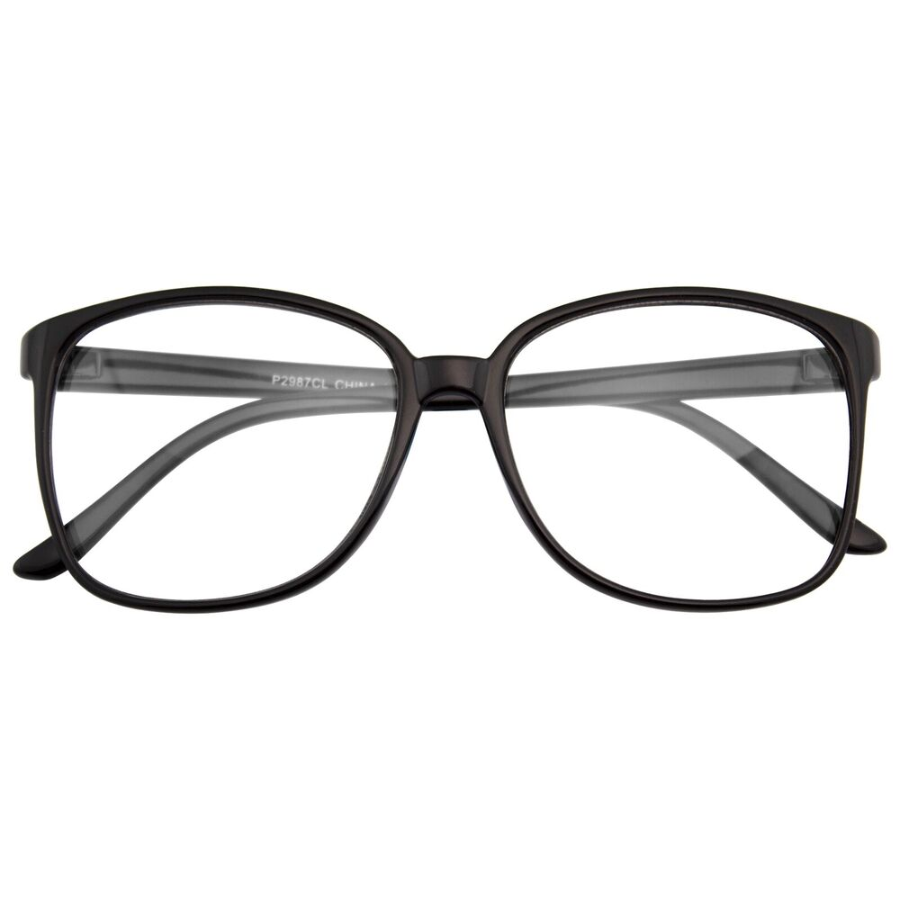 large oversized wayfarer glasses clear lens thin frame